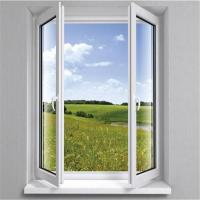 Buy cheap pvc profile double panel casement window for residential room from wholesalers