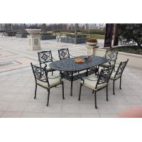 Buy cheap Hot!!! Outdoor Using Modern Garden Furniture Easy-cleaning Cheap 6 Seats Cast Aluminum Dining Set from wholesalers