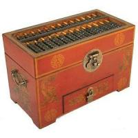 Buy cheap Vintage Chinese Wooden Bead Arithmetic Abacus W. Storage Compartments from wholesalers