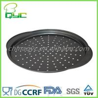 Buy cheap pizza pans with holes Non-stick Metal Round Pizza Mold With Hole from wholesalers