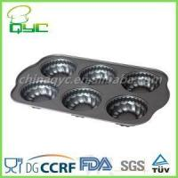 Buy cheap Non-Stick Carbon Steel 6 Hole Flower Shape Muffin Baking Tin from wholesalers