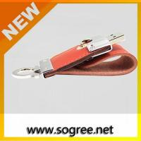 Buy cheap Wholesale Swivel USB 2.0 Driver Brown Leather USB Flash Memory from wholesalers