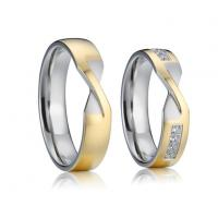 Buy cheap Gold Plated Unique Wedding Rings Pure Titanium Men Women Jewelry Wedding Engagement Rings from wholesalers