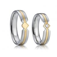 Buy cheap Men's 18K Gold Plated Tungsten Carbide Wedding Band Ring for Men Women Fashion from wholesalers