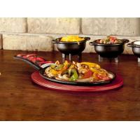 Buy cheap Pre-seasoned Cast Iron Roast Pan With Wooden Bear from wholesalers