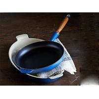 Buy cheap 26cm pre-seasoned cast iron fry pan with wooden handle from wholesalers