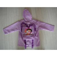 Buy cheap Rainwear Children's Polyester Purple Packable Rain Jacket With Hood from wholesalers