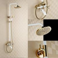 Buy cheap Luxury bathroom wall mounted brass hand shower set KD-50401 product
