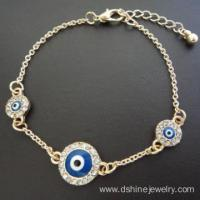 Buy cheap Fancy Chain Evil Eye Bracelet For Girls Blue Eye Bracelet from wholesalers