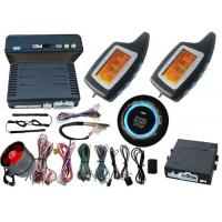 Buy cheap 2 Way Car Alarm System With Push Button Ignition Switch , Pke Shock Sensor Car Alarm Systems from wholesalers