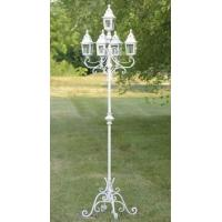 "Buy cheap 86"" TALL IRON/GLASS STANDING GARDEN LANTERN ""PARIS-1968"" ZR630001-WH from Wholesalers"