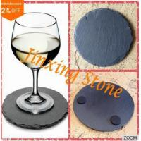 Buy cheap Food Safe Natural Stone Coffee Table Mats 4 x 4 Drinks Coaster Set of 4 Round Stone Coaster Slate from wholesalers