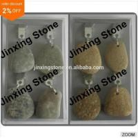 Buy cheap Set of 4 Natural Pebble Stone Tablecloth Weights Decorative Pebble Tablecloth Clip from wholesalers
