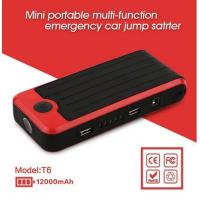 Buy cheap 12v Car Jump Starter T6 Mini Car Jump Starter Power Bank 12000mAh Portable Car Jump Starter from wholesalers