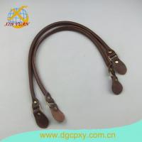 Buy cheap Leather Buckles And Straps 26 Inch A Pair Brown Bags Strap Purse Handle from wholesalers