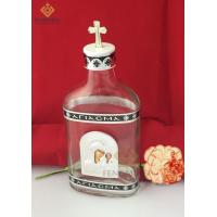 glass holy water bottle Orthodox Holy Oil & Water Bottle from Glass With Small Metal Icon