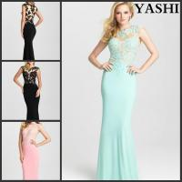 Buy cheap Chiffon Cocktail Gowns Lace Colorful Party Prom Evening Dress Mj6428 from wholesalers
