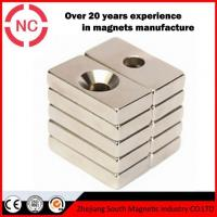 Buy cheap NdFeB Block Magnet Counter-sunk Neodymium Magnets Used For Car from wholesalers