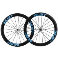 Buy cheap Carbon road wheel 56mm Clincher full carbon wheel tubeless compatible for road TT bikes from wholesalers