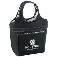 Buy cheap Black Swirl Lunch Bag With Front Slip Pocket For Extra Storage - Personalization Available from wholesalers