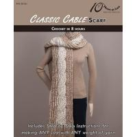 China CROCHET PATTERNS CLASSIC CABLE Scarf on sale