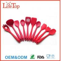 Buy cheap Silicone Kitchenware Dishwasher Safe Silicone Kitchen Utensil Set in Solid Coating from wholesalers