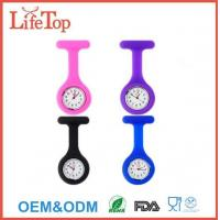 China Silicone Nurse Brooch Fob Watch with 10 Different Colors on sale