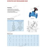 Buy cheap BS7350 PN16 BALANCING VALVE from wholesalers