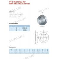 Buy cheap API 6D WAFER SINGLE-DISC SWING CHECK VALVE CLASS 150LB from wholesalers