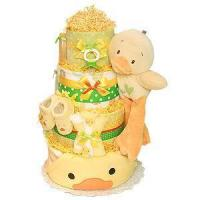 Buy cheap Girl Diaper Cakes Green and Yellow Bath Duck Diaper Cake from wholesalers