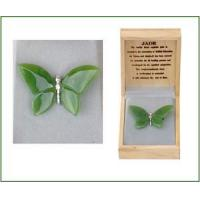 Buy cheap Carved Jade Butterfly Pin from wholesalers