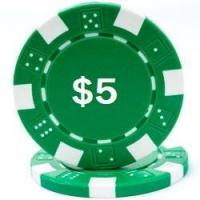 Buy cheap Promotional Poker Chips Custom Hot Stamped Green Striped Dice Poker Chips from wholesalers