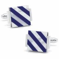 Buy cheap Floating Lapis and Mother of Pearl Striped Cufflinks from wholesalers