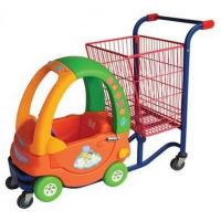 Buy cheap Plastic Kids shopping trolley with big basket from wholesalers