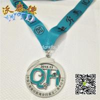 Buy cheap Antique silver medals with soft enamel craft medals WM337 from wholesalers