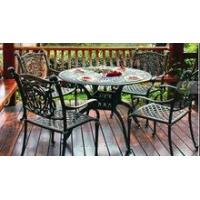 Buy cheap 2015 Cast Aluminum Patio Furniture Dining Table & Arm Chairs Set from wholesalers