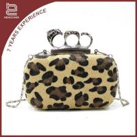 Buy cheap Handcee trendy womens party fur leopard printed clutch bags Handcee-KB-10 from wholesalers