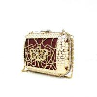 Buy cheap Gold metal frame crystal Evening Bags for women Handcee-KB-1 from wholesalers