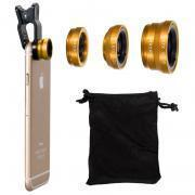 Buy cheap Clip 180 Degree Fish Eye Lens + Wide Angle + Micro Lens Kit for iPhone Samsung cell phone Blue from wholesalers