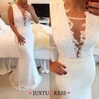 Buy cheap Trumpet/Mermaid Square Neck Sweep Train Long Elegant Prom Dresses With Bow from wholesalers