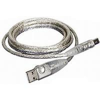 Buy cheap FireWire GS-0225 Cable, USB 2.0, A to B, 6' Clear IOGear from wholesalers