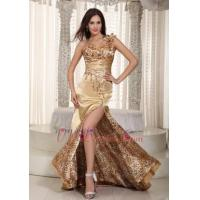 Buy cheap Golden One Shoulder Special Occasion Prom Dress With Leopard Luxury from wholesalers
