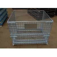 Buy cheap Stacking collapsible wire mesh container from wholesalers