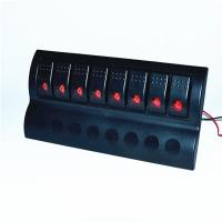 Buy cheap Filter 8 Gang red LED Rocker Switch Panel for car boat marine from wholesalers