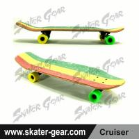 Buy cheap SKATERGEAR 29.75*8.75inch Green&Yellow&Red Maple Cruiser Skateboard Product No.:SG-CS07 from wholesalers