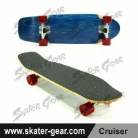 Buy cheap SKATERGEAR 29.75*8.75inch Blue Maple Cruiser Skateboard Product No.:SG-CS05 from wholesalers