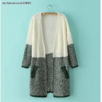 Buy cheap F1-8678(A2-2-3K)Ice hit the color line long knitted cardigan sweat from wholesalers