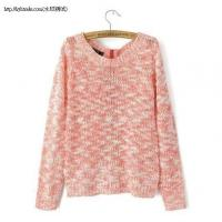 Buy cheap L2-191(B5-3-1E)Back zipper sweater round neck sweater hedging from wholesalers
