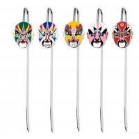 Buy cheap Chinese Style Peking Opera Mask Soft Enamel Bookmark from wholesalers