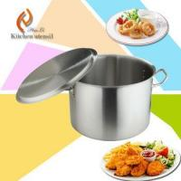 Buy cheap Commercial industrial cookware stainless steel stock pot with double-ply bottom from wholesalers
